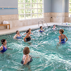 Indoor, Heated Saltwater Aerobic Pool