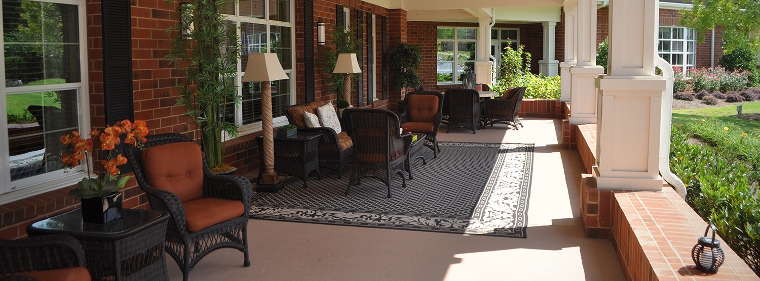 Porch at Sterling Estates of East Cobb in Marietta, GA