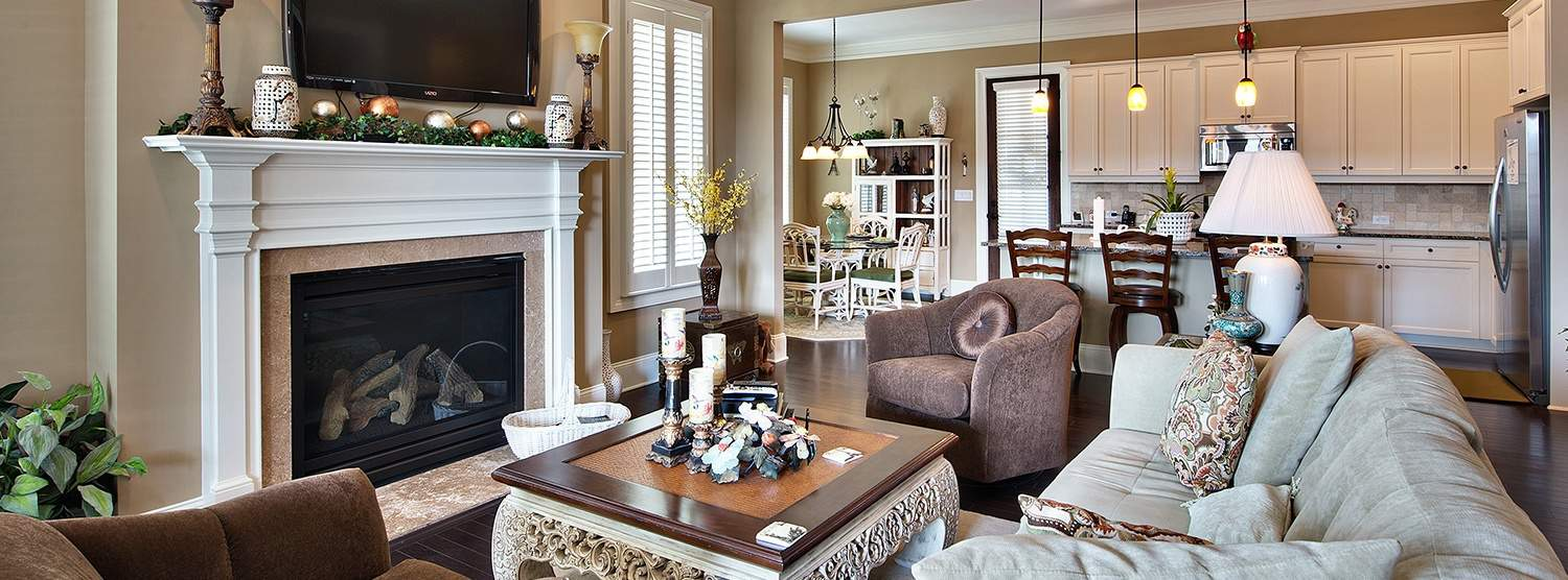 Family Room at Sterling Estates of East Cobb in Marietta, GA