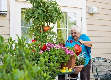 Resident Gardening at Sterling Estates East Cobb in Marietta, GA