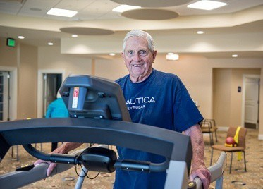 Resident Exercising at Sterling Estates East Cobb in Marietta, GA